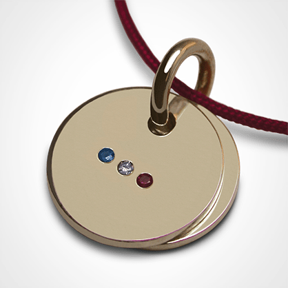 HOMELAND pendant in 750 yellow gold and precious stones by the jewellery collection for children MIKADO.