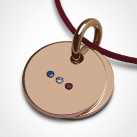 HOMELAND pendant in 750 pink gold and precious stones by the jewellery collection for children MIKADO.
