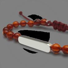 Bracelet MARACAS en argent 925 millièmes et perles d'ambre de la collection de bijoux pour enfants MIKADO.