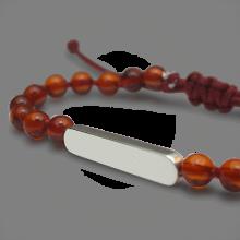 Bracelet MARACAS en or blanc 750 millièmes rhodié et perles d'ambre de la collection de bijoux pour enfants MIKADO.
