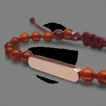 Bracelet MARACAS en or rose 750 millièmes et perles d'ambre de la collection de bijoux pour enfants MIKADO.