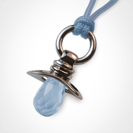 DUMMY pendant in 925 sterling silver and blue topaz by the jewellery collection for children MIKADO.