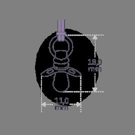 Dimensiones del colgante DUMMY de la colección de joyería infantil MIKADO.