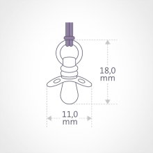 Dimensions of the DUMMY pendant by the jewellery collection for children MIKADO.