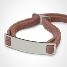 SKIN identity bracelet in 750 white gold and pink lanyard by the jewellery collection for children MIKADO.