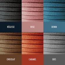 Carta de colores de las 6 correas de piel de la colección de joyas infantiles MIKADO.