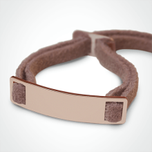 SKIN identity bracelet in 750 pink gold and pink lanyard by the jewellery collection for children MIKADO.
