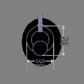 Dimensions du pendentif MOANA de la collection de bijoux pour enfants MIKADO.