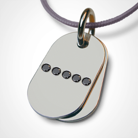 RAMBO pendant in 925 sterling silver and black diamonds by the jewellery collection for children MIKADO.
