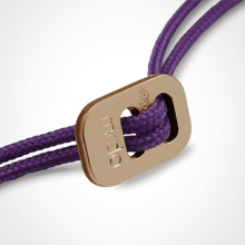 Sliding clasp in rose gold 750 thousandths of the cords of the MIKADO children's jewellery collection.