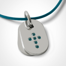 CORCOVADO pendant in 925 sterling silver and blue topaz by the jewellery collection for children MIKADO.
