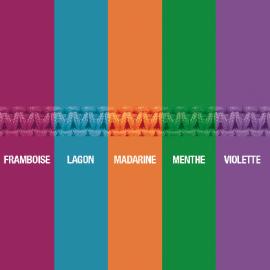 Carta de colores del cordón impermeable para el colgante de plata CORCOVADO de la colección MIKADO.