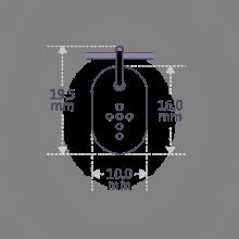 Dimensiones del colgante de bautizo CORCOVADO de la colección de joyería infantil MIKADO.