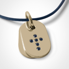 CORCOVADO pendant in 750 yellow gold and blue sapphire by the jewellery collection for children MIKADO.