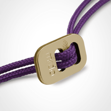Cierre deslizante en oro amarillo 750 milésimas de los cordones de la colección de joyería infantil MIKADO.
