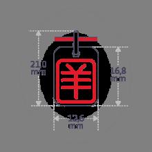 Dimensiones del colgante ASIA (signo astrológico chino de la cabra) de la colección MIKADO.