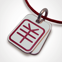 ASIA pendant (goat chinese zodiac sign) in 925 millièmes silver by the jewellery collection for children MIKADO.