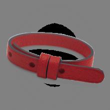 Bracelet cuir simple cerise de la collection de bijoux pour enfants MIKADO.