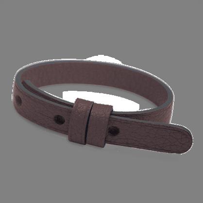 Bracelet cuir simple chocolat de la collection de bijoux pour enfants MIKADO.
