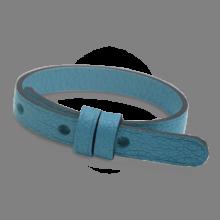 Bracelet cuir simple bleu ciel de la collection de bijoux pour enfants MIKADO.