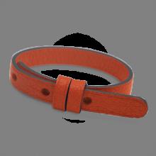 Bracelet cuir simple mandarine de la collection de bijoux pour enfants MIKADO.