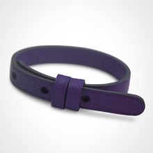 Pulsera de cuero púrpura de la colección de joyería infantil MIKADO.