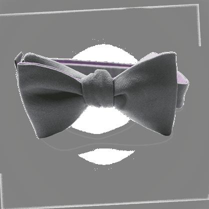 Nœud papillon pour enfant MIKADO gris.