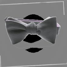MIKADO pajarita para niños de color gris.