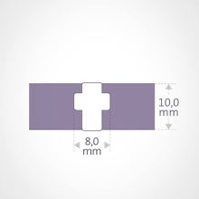 Dimensions du bracelet GOSPEL de la collection de bijoux pour enfants MIKADO.