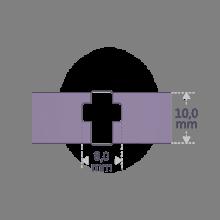 Dimensiones de la pulsera GOSPEL de la colección de joyería infantil de MIKADO.