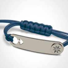 Bracelet I AM A STAR BOY in sterling silver, diamond and ocean cord from the MIKADO children's jewellery collection.