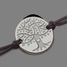 Bracelet arbre de vie LOVETREE en or blanc 750 millièmes et cordon de la collection de bijoux pour enfants MIKADO.