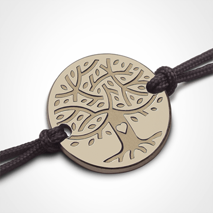 LOVETREE tree of life bracelet in 750 yellow gold by the jewellery collection for children MIKADO.