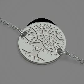 Pulsera árbol de la vida LOVETREE plata 925 milésimas y cadena de la colección de joyería infantil MIKADO.