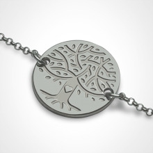 LOVETREE tree of life chain bracelet in 750 white gold by the jewellery collection for children MIKADO.
