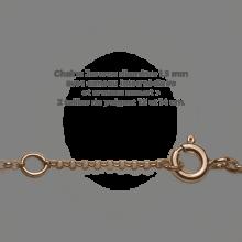 Chaîne Jaseron du bracelet arbre de vie LOVETREE en or rose 750 millièmes de la collection de bijoux pour enfants MIKADO.