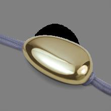 Bracelet LA DRAGÉE en or jaune 750 millièmes et cordon lavande de la collection de bijoux pour enfants MIKADO.