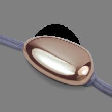 Bracelet LA DRAGÉE en or rose 750 millièmes et cordon lavande de la collection de bijoux pour enfants MIKADO.