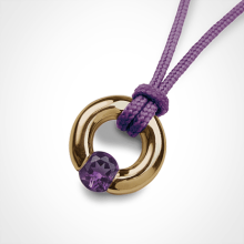 NEWBORN amethyst pendant in 750 yellow gold by the jewellery collection for children MIKADO.