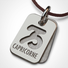 Médaille de baptême ASTRO CAPRICORNE en argent 925 millièmes de la collection de bijoux pour enfants MIKADO.