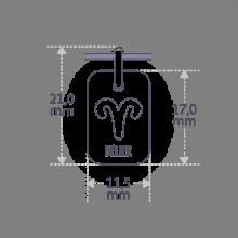 Dimensions du pendentif ASTRO BÉLIER de la collection de bijoux pour enfants MIKADO.