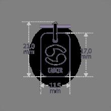 Dimensions du pendentif ASTRO CANCER de la collection de bijoux pour enfants MIKADO.