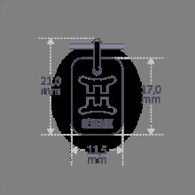 Dimensions du pendentif ASTRO GÉMEAUX de la collection de bijoux pour enfants MIKADO.