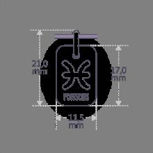 Dimensions du pendentif ASTRO POISSONS de la collection de bijoux pour enfants MIKADO.