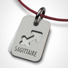 ASTRO SAGITTARIUS christening zodiac pendant in white gold by the jewellery collection for children MIKADO.