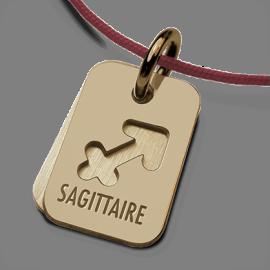 Médaille de baptême ASTRO SAGITTAIRE en or jaune 750 millièmes de la collection de bijoux pour enfants MIKADO.