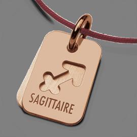 Medalla bautismal ASTRO SAGITARIO en oro rosa de la colección de joyas infantiles MIKADO.