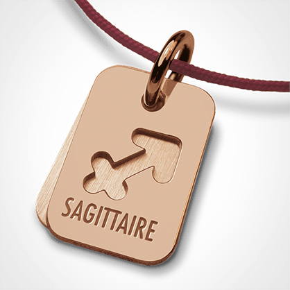 ASTRO SAGITTARIUS christening zodiac pendant in 750 yellow gold by the jewellery collection for children MIKADO.
