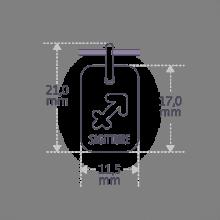 Dimensions of the ASTRO SAGITTARIUS pendant.