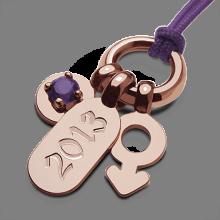 Pendentif POGO BOY AMÉTHYSTE en or rose 750 millièmes de la collection de bijoux pour enfants MIKADO.